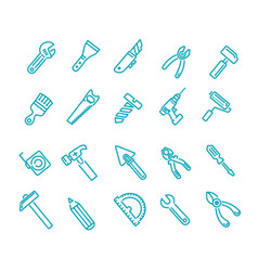 construction tool icon collection icons vector image
