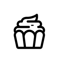 cupcake icon food vector image