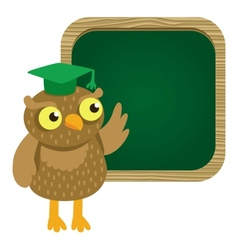 cute owl with school board vector image