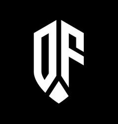 df logo monogram with emblem shield style design vector image