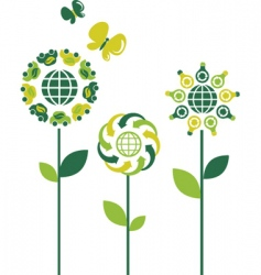 environmental flowers vector image