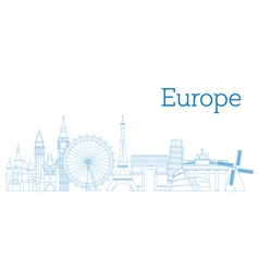 Europe skyline vector image