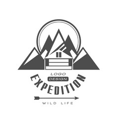 expedition logo design wild life sign vintage vector image