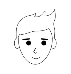 Face of happy young man icon image vector