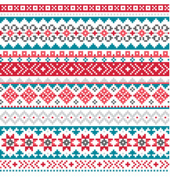 fair isle shtelands knitwear pattern vector image
