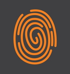 Fingerprint icon1 vector