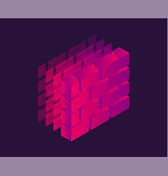 Firewall isometric icon 3d vector