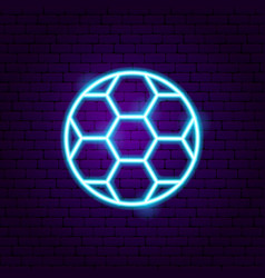 football soccer neon sign vector image