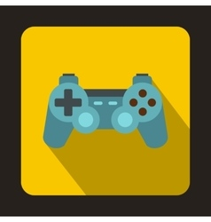 Game joystick icon flat style vector image