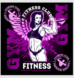 girl power the factory girl with biceps woman vector image