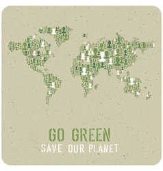 go green poster vector image