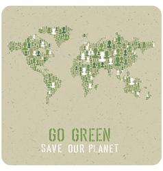 Go green poster vector