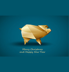 golden pig as a symbol chinese new year vector image