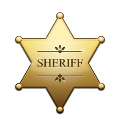 Golden Sheriff Star vector image