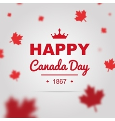 Happy Canada Day poster vector
