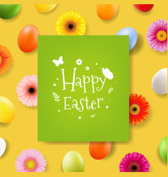 happy easter day banner vector image