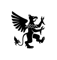 Heraldry griffin isolated mythical creature vector