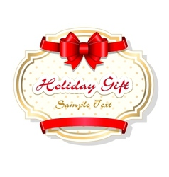Holiday gift card template vector