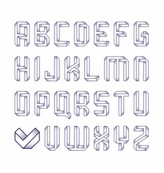 impossible shape font vector image