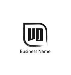 initial letter vd logo template design vector image