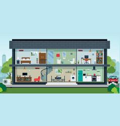 Inside house vector