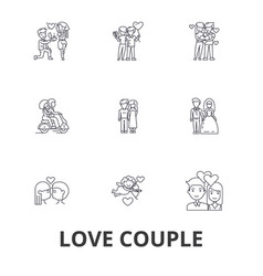 Love couple romantic love heart kissing love vector