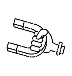 magnetic u symbol vector image
