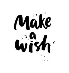 Make a wish Boho style phrase vector