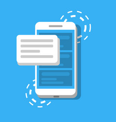 message or sms on the background of phone concept vector image