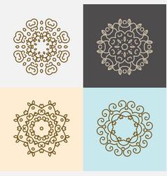 modern stylish logo elements vector image