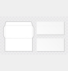 office envelope cut up template vector image