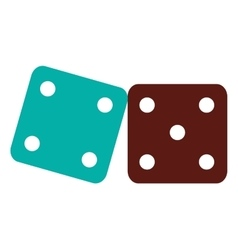 pair of dice icon vector image
