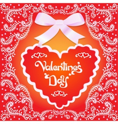Postcard on Valentines day vector