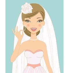 Pretty bride vector image vector image