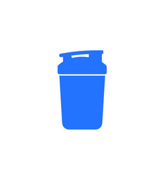 Protein shaker cup icon on white vector