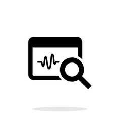 Pulse monitoring icon on white background vector image