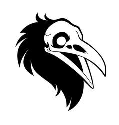 rawen skull beast vector image
