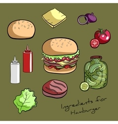 RecipeHamburger vector image