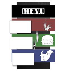 Restaurant menu plane with shadow vector