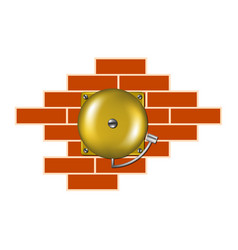 retro alarm on the brick wall vector image