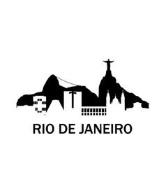Rio de janeiro city skyline negative space city vector