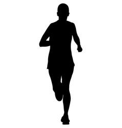running woman athlete marathon vector image