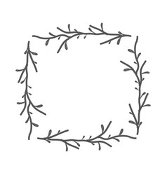 Rustic square branches decoration vector