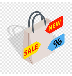 sale isometric icon vector image
