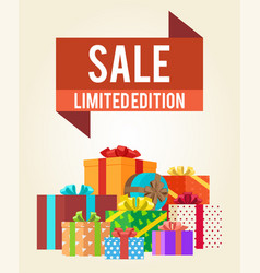 Sale limited edition shop now poster advert label vector