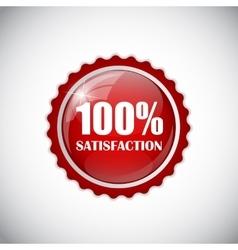 Satisfaction red label vector