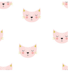 scandinavian pattern with cat vector image