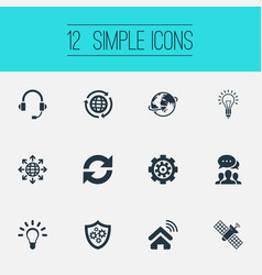 Set of simple innovation icons vector