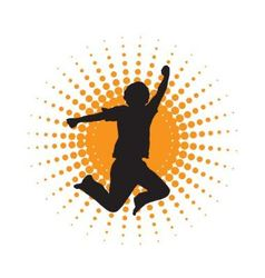 silhouette of jumping men vector image