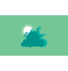 Silhouette of palm landscape style vector image